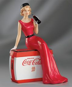 "Coca-Cola - ""Coke Beauties of the 1940's"" - Golden Moments Lady Figurine"