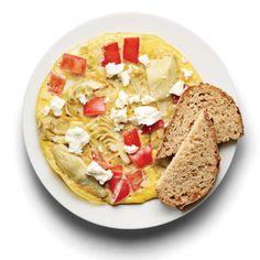 Tomato, Artichoke, and Feta Frittata http://www.womenshealthmag.com/weight-loss/healthy-breakfast-recipes?slide=15