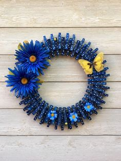 Excited to share this item from my shop: Spring Clothespin Wreath/Summer Wreath/Spring Wreath/Spring Decor Summer Door Wreaths, Mesh Wreaths, Holiday Wreaths, Burlap Wreaths, Winter Wreaths, Floral Wreaths, Spring Wreaths, Bandana Wreaths, Wreath Crafts