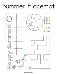 Prewriting Skills, Pre Writing, Summer Is Here, Kids Prints, Worksheets, Coloring Pages, Activities, Preschool, Quote Coloring Pages