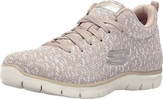 SKECHERS Women's Empire - Connections Taupe Sneaker 8 B (M) ** You can find more details at