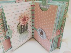 5 steps to know how to make an original scrapbook - models of how to make a scrapbook - Mini Album Scrapbook, Scrapbook Bebe, Baby Scrapbook Pages, Scrapbook Paper, Mini Albums, Baby Mini Album, Diy Notebook, Handmade Journals, Bookbinding