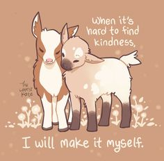 Thera-pets: 64 Emotional Support Animal Cards (Self-Esteem, Affirmations, Help with Anxiety, Worry and Stress, and for Fans of You Can Do All Things) Inspirational Animal Quotes, Cute Animal Quotes, Cute Quotes, Cute Animals, Cute Animal Drawings Kawaii, Kawaii Drawings, Cute Drawings, Emotional Support Animal, Baby Goats