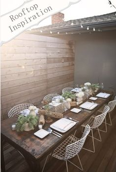 seder dinner wood tables, minimal decor