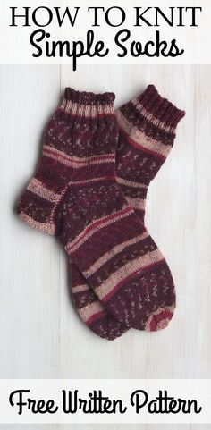 Free Basic Sock Pattern - for Beginners and Advanced Knitters, Fast & Simple + Video Tutorial