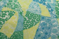 vintage 1960s KEY WEST hand printed fabric susie by mad4modvintage, $40.00