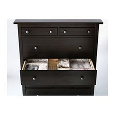 Hemnes 6 Drawer Chest Black Brown Ikea 179 00