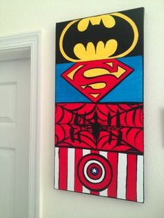 Custom Order 12 x 24 Canvas Wall Art: The Superheroes, Comic Book Style Personalized & Ready to Hang.