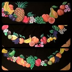 Detail of fruit, handpainted with sequins Sequins, Hand Painted, Fruit, Detail, Creative, Handmade, Jewelry, Hand Made, Jewlery