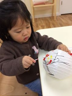 Painting lanterns for Chinese New Year help this student to focus and concentrate, plus giving her an opportunity to express herself through colors and art. Children appreciates beautiful things and develops aesthetic values.