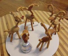 Pretzel Reindeer Tutorial for Gingerbread Houses.