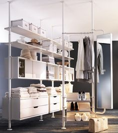 My idea of a closet, I don't like their bulkiness! (IKEA Stolmen)