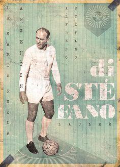 Alfredo Di Stefano of Real Madrid wallpaper. Spain Football, God Of Football, Legends Football, Football Icon, Best Football Players, World Football, Soccer Players, Sand Soccer, Soccer Art