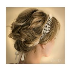 [object Object] ❤ liked on Polyvore featuring beauty products, haircare, hair styling tools, hair, hairstyles, hair styles, wedding e pictures