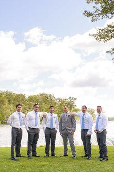 white grey and light blue groomsmen look #groomsmen #groom #weddingchicks http://www.weddingchicks.com/2014/01/28/creative-canuck-wedding/
