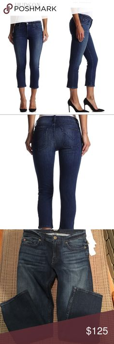 """Hudson Fallon crop jeans Hudson Fallon in canal classic straight crop ankle jeans. Size 26. Vintage denim look. 5 pocket detail. 9"""" rise. 13"""" leg opening. 24"""" inseam. High power stretch fabric. 78% cotton 15% tencil. New with tags. Hudson Jeans Jeans Ankle & Cropped"""