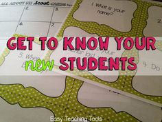 Back to School: Get to Know Your Students