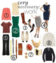 how to build a professional wardrobe from scratch Office Wardrobe, Office Attire, Office Outfits, Work Outfits, Fall Outfits, Professional Wardrobe, Professional Dresses, Business Professional, Business Outfits