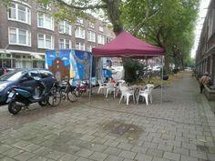 Straks in gesprek met bewoners over ideeën over de herinrichting van de #spangesekade.  Kom langs Mathenesserdijk 272