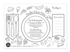 FREE Printable Ramadan Dua Placemat for kids to colour and use. Great for teaching them duas for breaking fast and after eating.    Ramadan Printables and Activities for muslim kids.