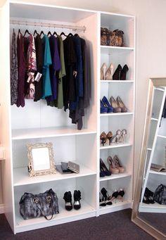 diy wardrobe w/ ikea shelves? Smaller version for dress up clothes