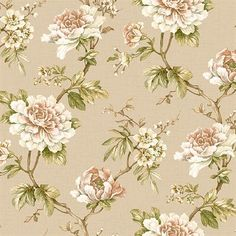 Red and Brown Madaline Floral Wallpaper