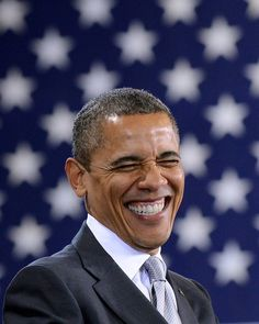 Smiling.  Even if you are right wing and would not want to admit it, you Have to like this man!