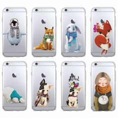 b2726358f76 Bulldog Penguin Polar Bear Soft Phone Case Coque Fundas For iPhone 7 7Plus 6  6S 6Plus 8 8Plus X SAMSUNG