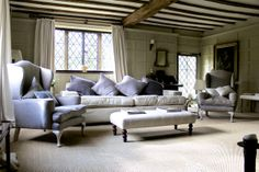 Sitting Room with panelled walls