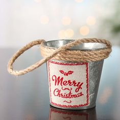 """Rustic Galvanized """"Merry Christmas"""" Pail - Holiday Craft Supplies - Christmas and Winter - Holiday Crafts Dollar Tree Christmas, Merry Christmas, Christmas Ideas, Holiday Ideas, Vintage Christmas, Christmas Decor, Farmhouse Christmas Ornaments, Factory Direct Crafts, Tin Flowers"""