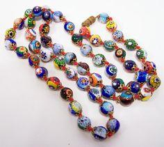 Vintage Venetian Millefiori Art Glass Bead by GretelsTreasures