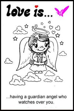 love is… not losing a loved one but gaining a guardian angel   Love is... Comics by Kim Casali