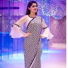 Looking for blouse designs photos? Here are our picks of 30 trending saree blouse models that will blow your mind. Saree Jacket Designs, Sari Blouse Designs, Fancy Blouse Designs, Designer Blouse Patterns, Latest Blouse Designs, Dress Designs, Blouse Back Neck Designs, Saree Blouse Models, Saree Dress