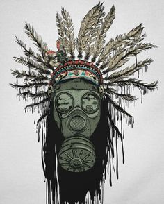Indian native American gas mask