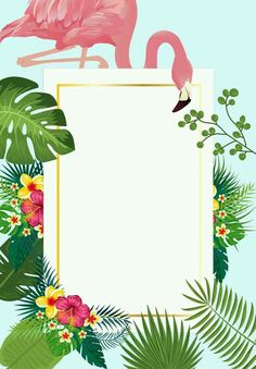 Pink flamingo with tropical palm leaves frame invitation card ideal for weddings or beach party Graduation Invitation Cards, Baby Shower Invitation Cards, Lace Wedding Invitations, Birthday Invitations, Wedding Cards, Floral Invitation, Corporate Invitation, Pool Party Invitations, Diy Wedding