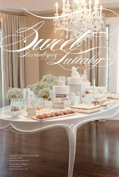 a baby shower with lots of baby breath.  so obvious but never thought of it!