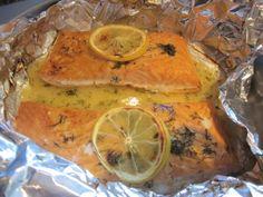 Salmon With Lemon-Butter-Dill Sauce