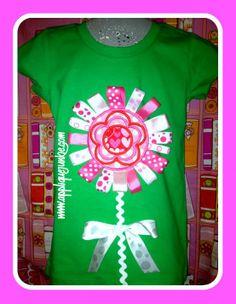 Ribbon Flower Applique Design Applique Junkie