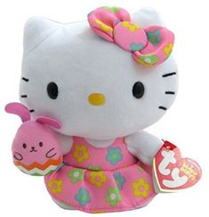 Ty Easter Beanie Babies Hello Kitty Pink Bunny ** Check out this great product.(It is Amazon affiliate link) #instagood