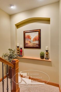 Basement Stairway Niche - traditional - staircase - minneapolis - by Finished Basement Company