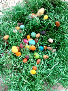 """We have all natural Easter Grass!  """"eco-grass""""? :)  Be gone, plastic!"""