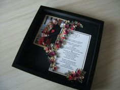 Wedding keepsake picture with quilling