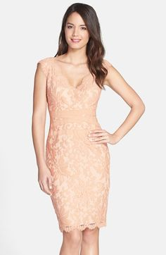 Tadashi Shoji Embroidered Lace Sheath Dress (Regular & Petite) | Nordstrom