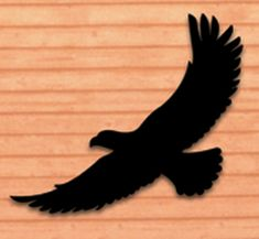 Life-Size Eagle Shadow Woodcraft Pattern Everyone will do a double take when you display this life size silhouette in your yard or on a building! #diy #woodcraftpatterns