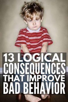 Enforcing logical consequences is a fabulous way for teachers to encourage good classroom behavior and parents to get kids to behave without yelling, and we're sharing 13 logical consequences that actually work! Classroom Behavior, Kids Behavior, Behavior Consequences, Child Behavior Problems, Behavior Charts, Chore Charts, Kids And Parenting, Parenting Hacks, Parenting Plan