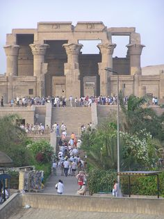 Kom Ombo Temple. The Temple of Kom Ombo is an unusual double temple built during the Ptolemaic dynasty in the Egyptian town of Kom Ombo. The building is unique because its 'double' design meant that there were courts, halls, sanctuaries and rooms duplicated for two sets of gods.