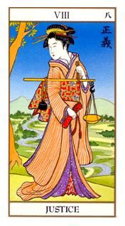 June 4 Tarot Card: Justice (Ukiyoe deck) This is a deciding moment. Choose your next steps carefully now ~ your fate is at stake Intuition, Justice Tarot, Tarot Cards Major Arcana, Tarot Significado, Tamamo No Mae, Divination Cards, Witchcraft Books, Online Tarot, Tarot Learning
