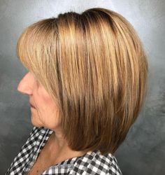Haircut For Older Women, Short Hair Older Women, Older Women Hairstyles, Bob Hairstyles, Straight Hairstyles, Popular Hairstyles, Layered Hairstyles, Fringe Hairstyles, Stacked Haircuts