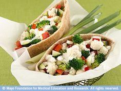 Vegetable pita pockets