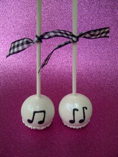 Music notes cake pops